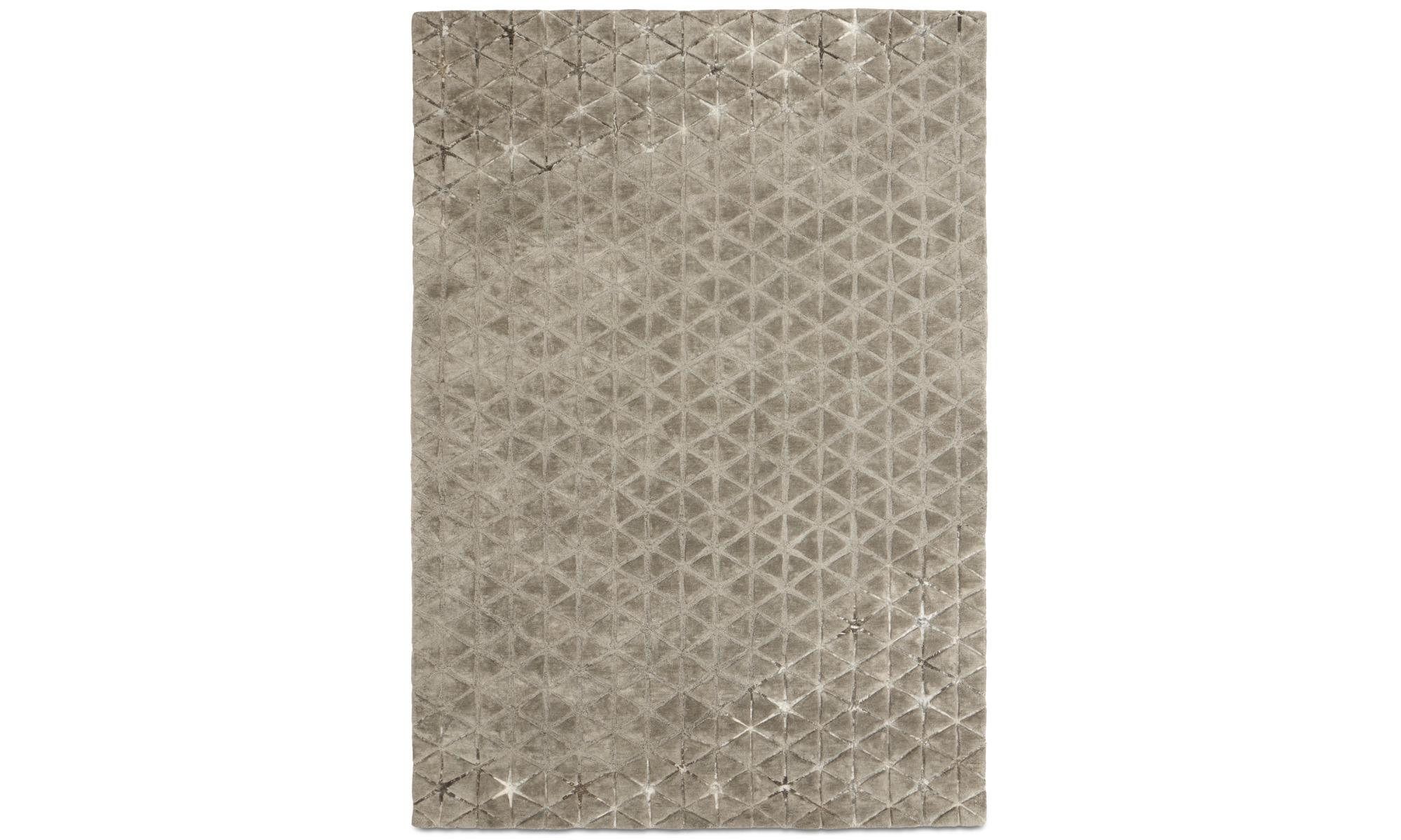 Teppiche - Angular Teppich - rechteckig - Grau - Baumwolle