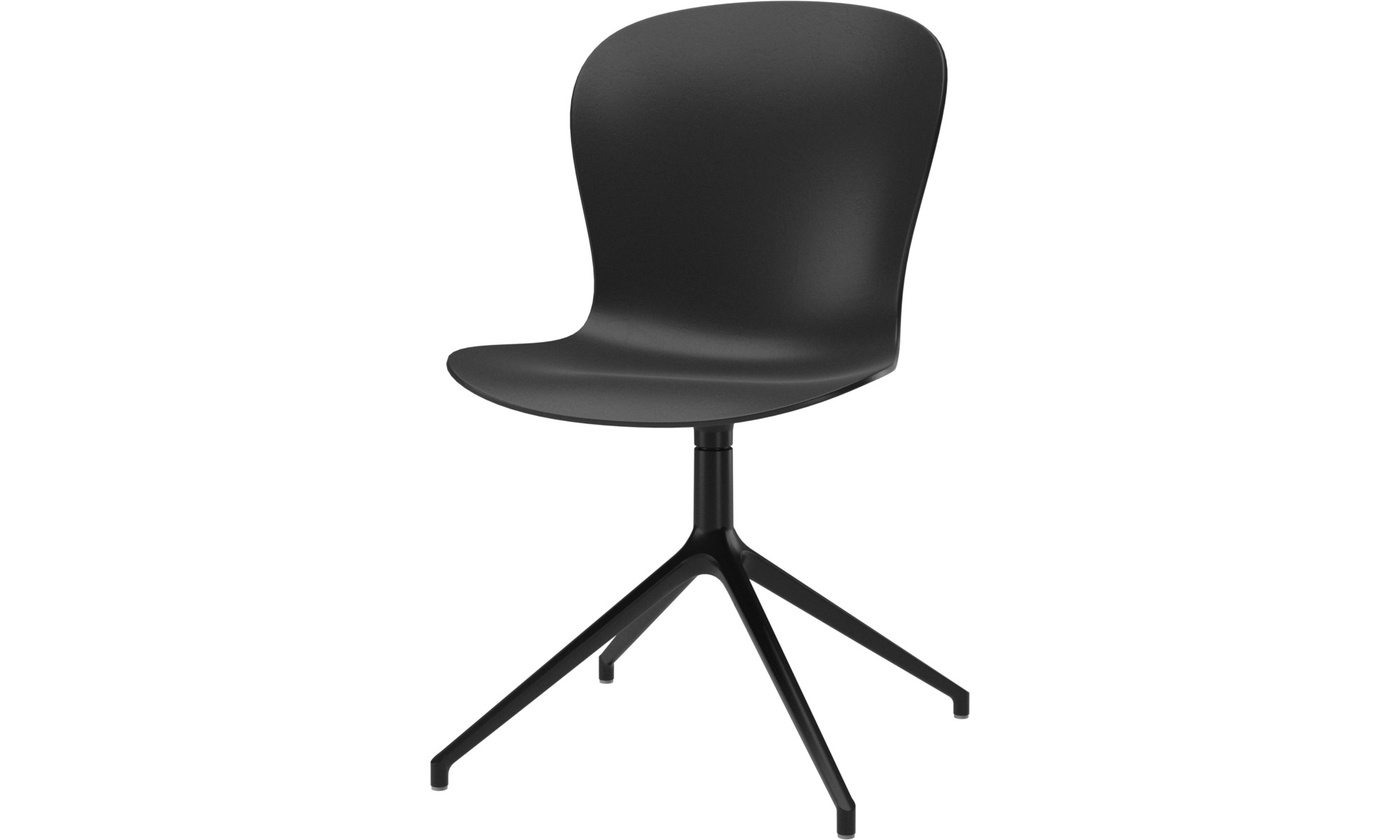 Home office chairs - Adelaide chair with swivel function - Black - Plastic