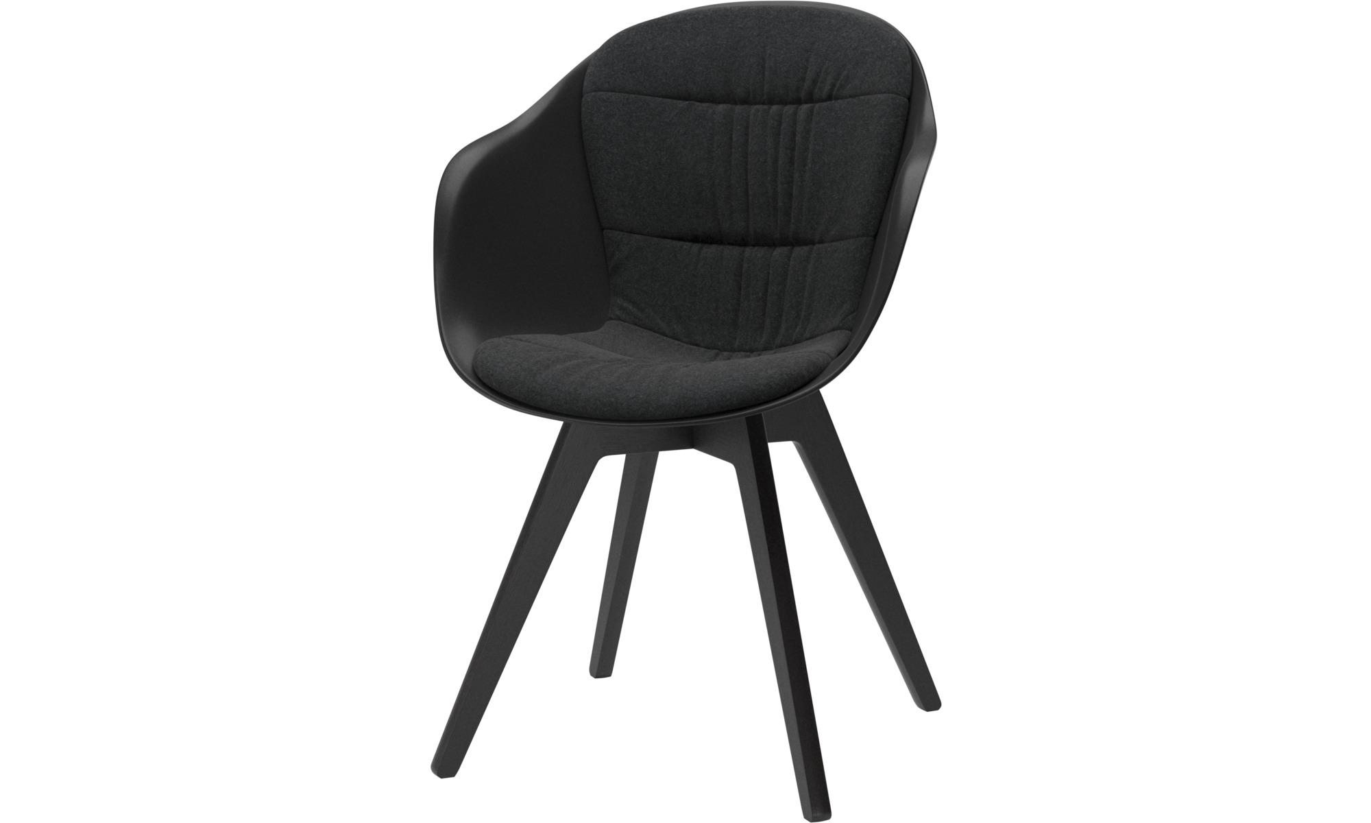 Krzesła do jadalni - Krzesło Adelaide - Szary - Tkanina