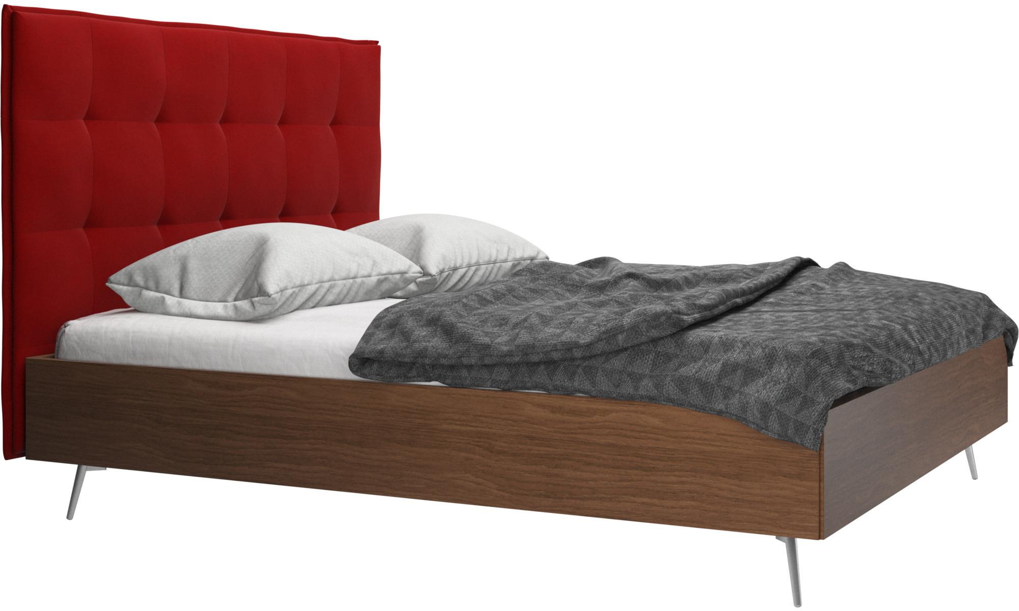 Camas - Cama Lugano, no incluye colchón - Rojo - Tela