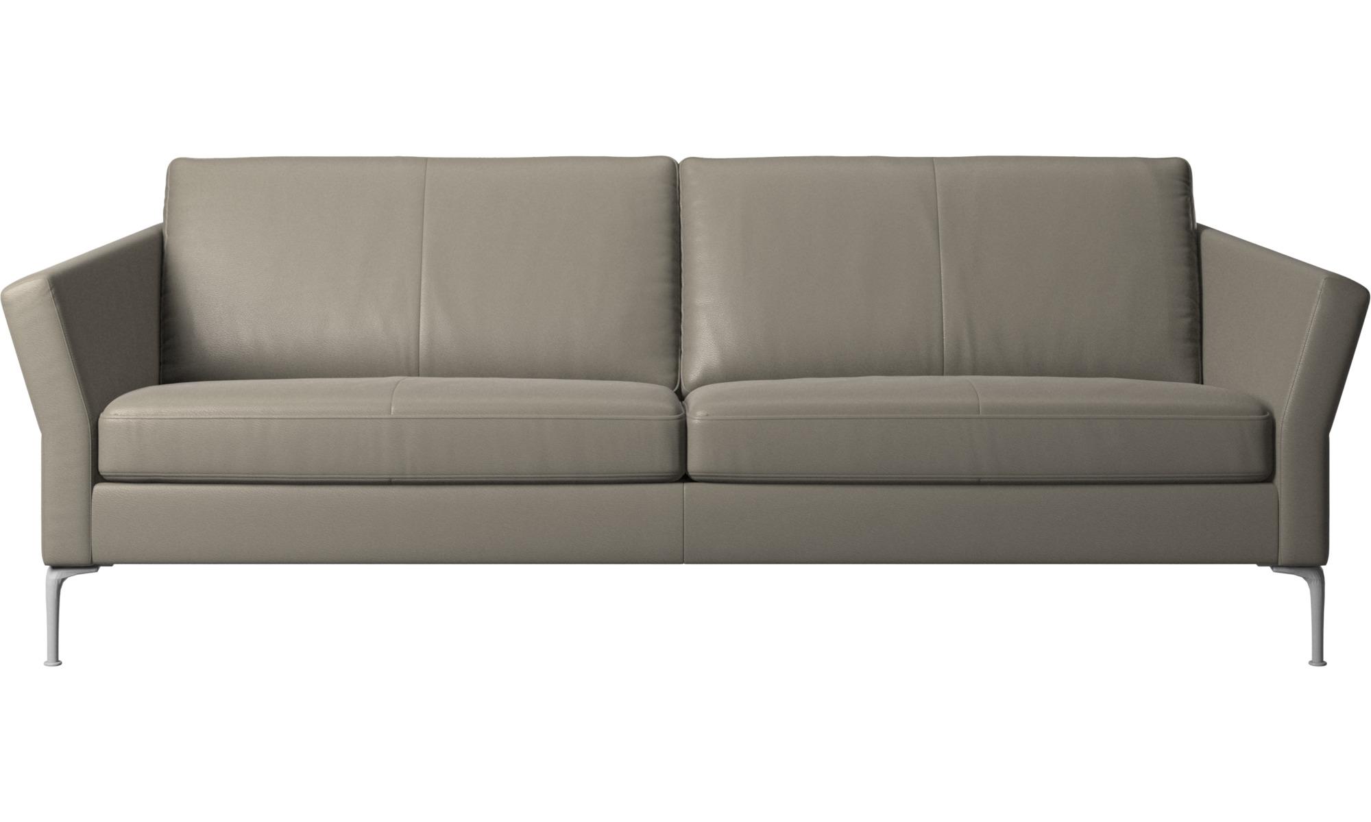 3 personers sofaer - Marseille sofa - Grå - Læder