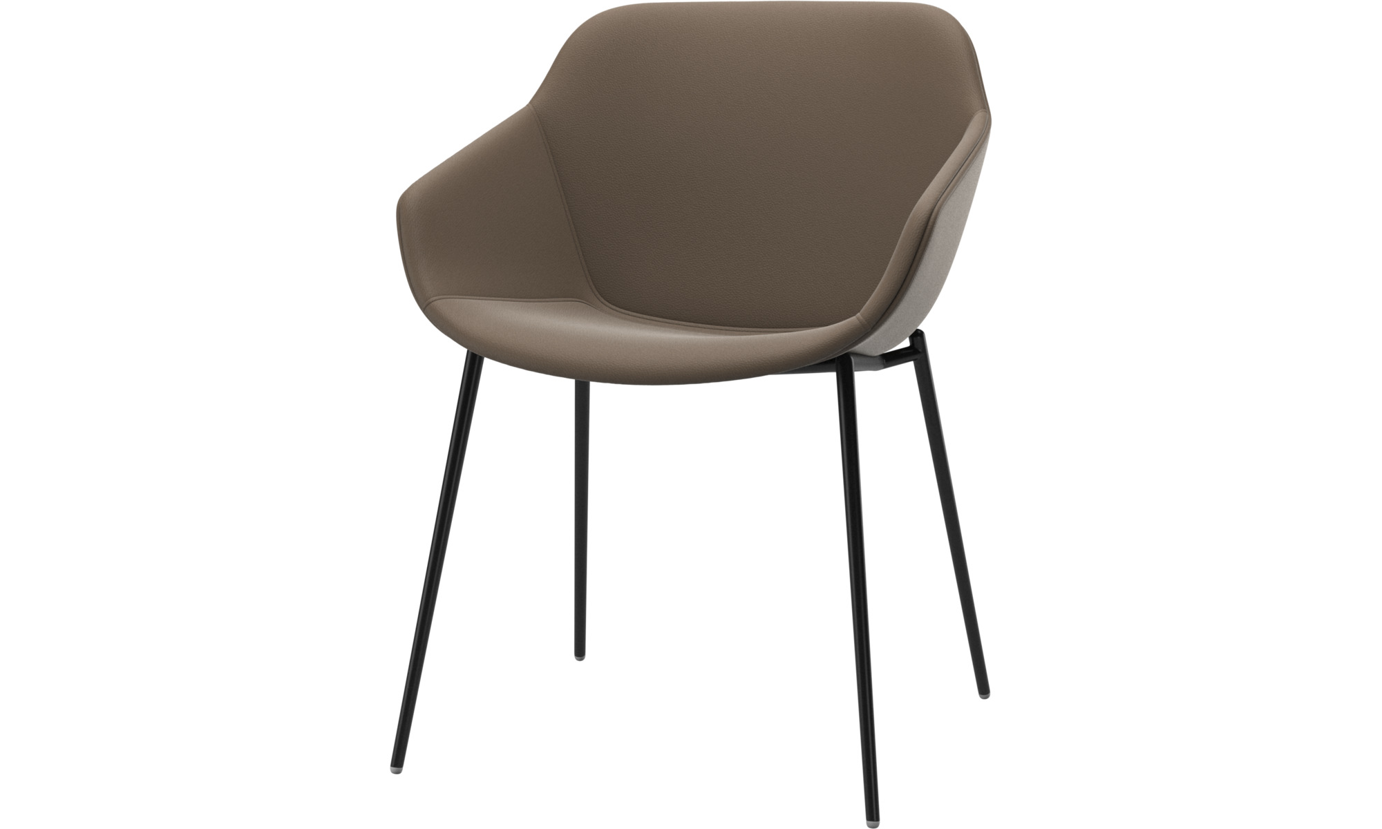 Dining chairs - Vienna chair - Grey - Leather