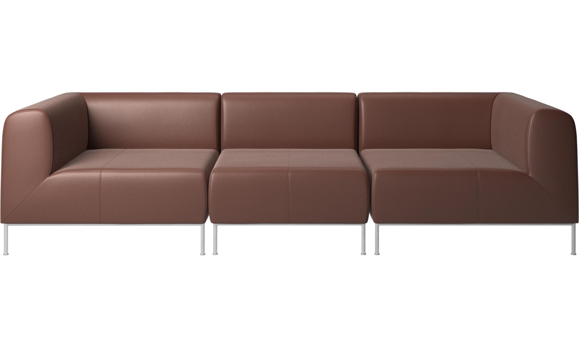 Modulære sofaer - Miami sofa - Brun - Læder