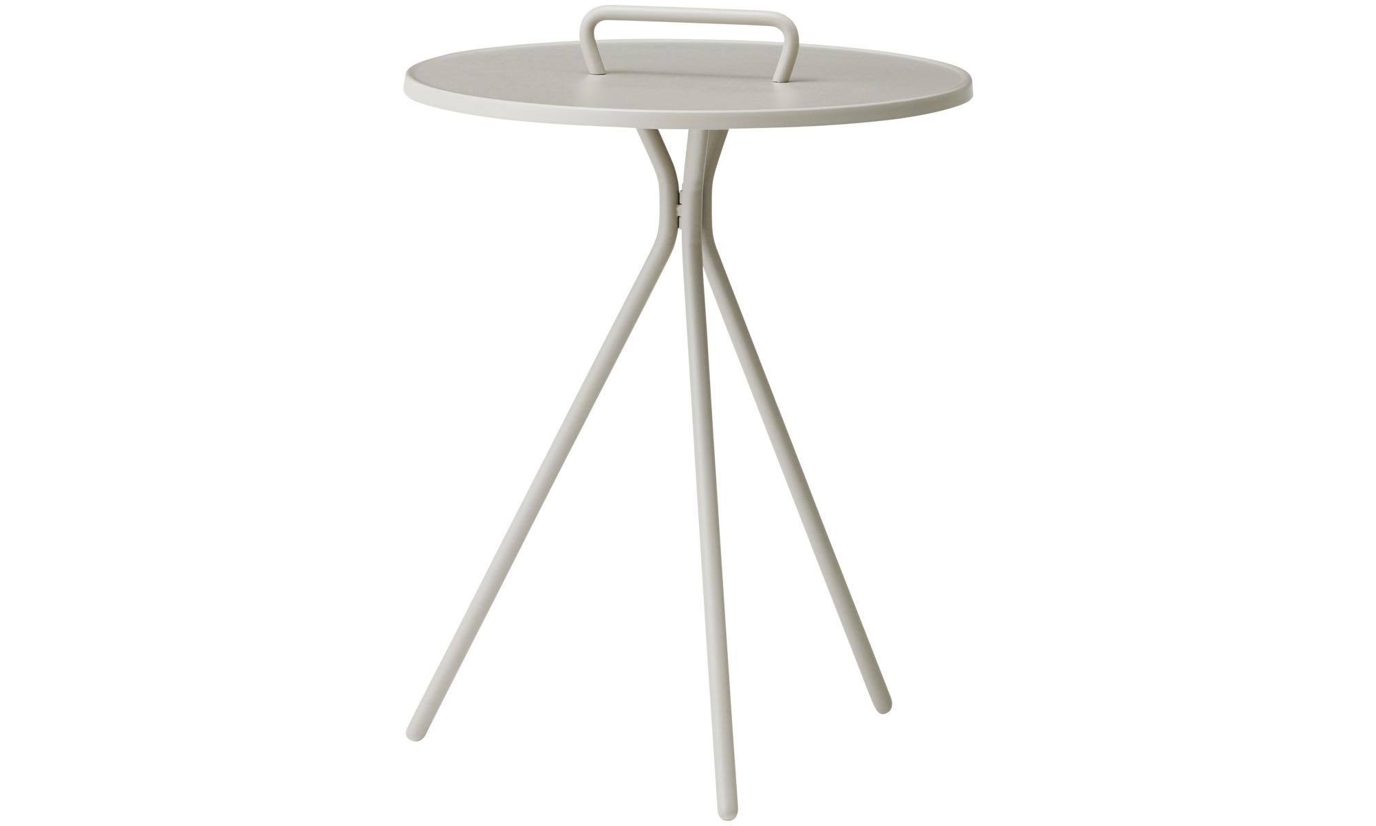 Petits meubles - Table d'appoint Jersey (convient à un usage intérieur et extérieur) - rotonde - Gris - Laqué