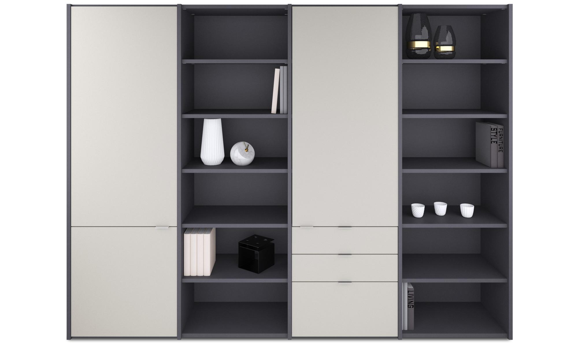 combinaisons murales combinaison murale copenhagen boconcept. Black Bedroom Furniture Sets. Home Design Ideas