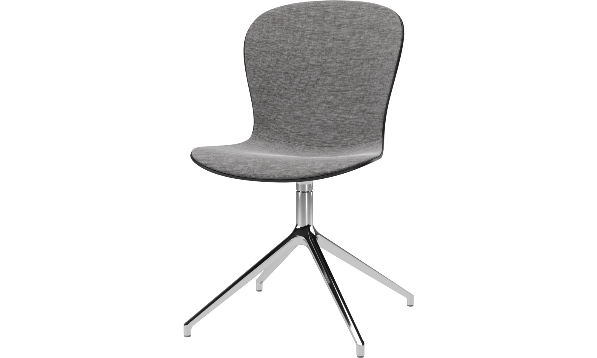 Cadeiras de secretária para Home office - Cadeira Adelaide giratória - Cinza - Tecido
