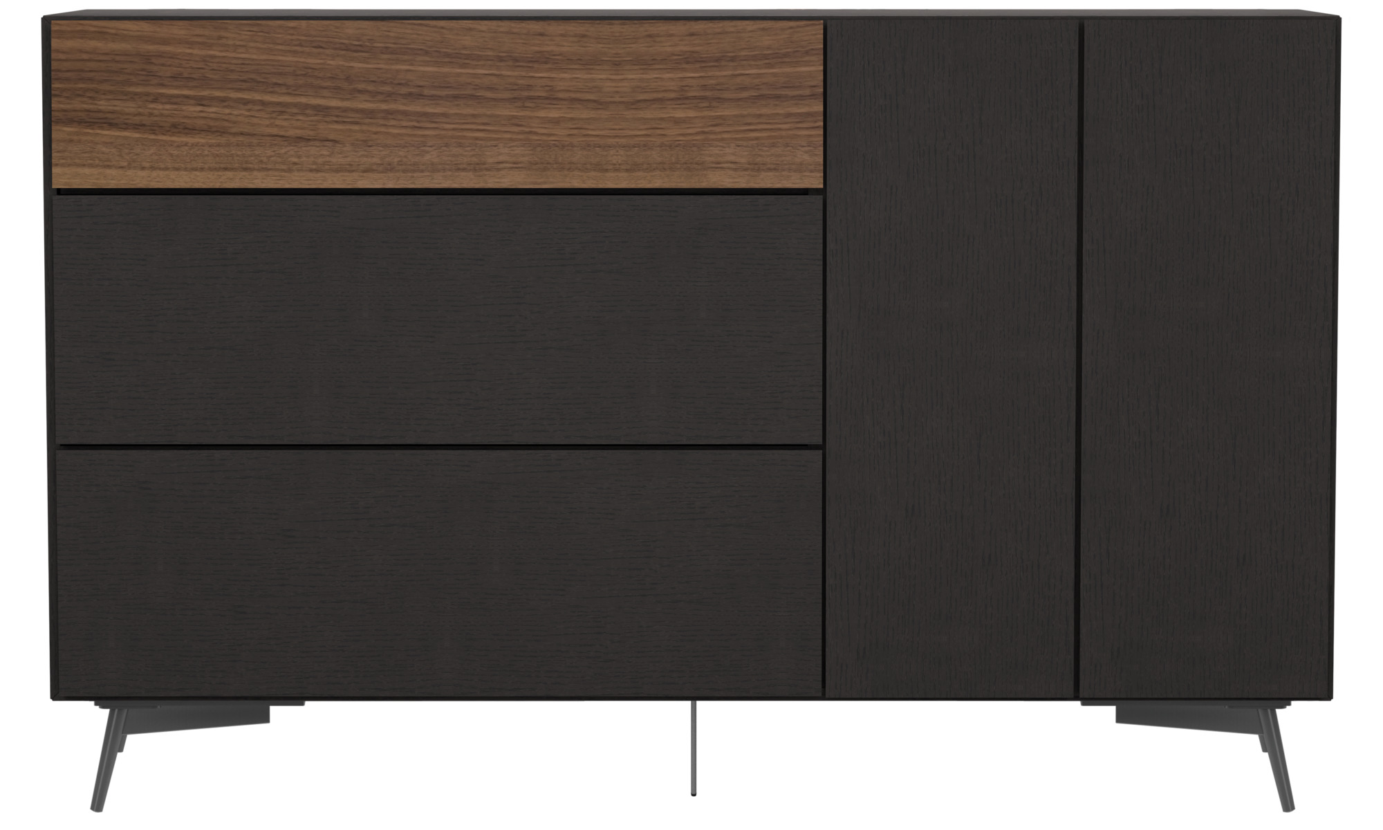 Sideboards Lugano highboard with drawers and drop down door BoConcept