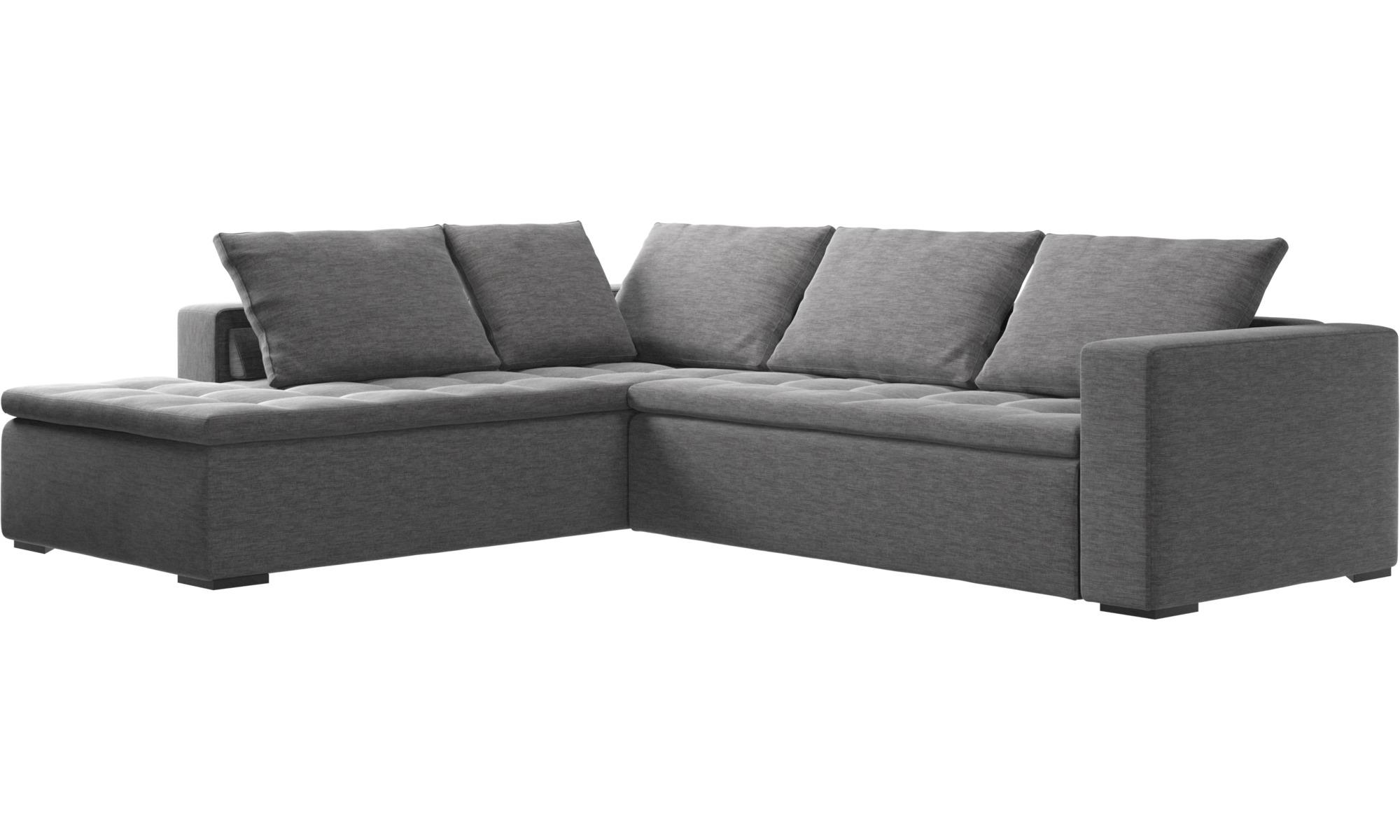 sofas mezzo corner sofa with lounging unit boconcept. Black Bedroom Furniture Sets. Home Design Ideas