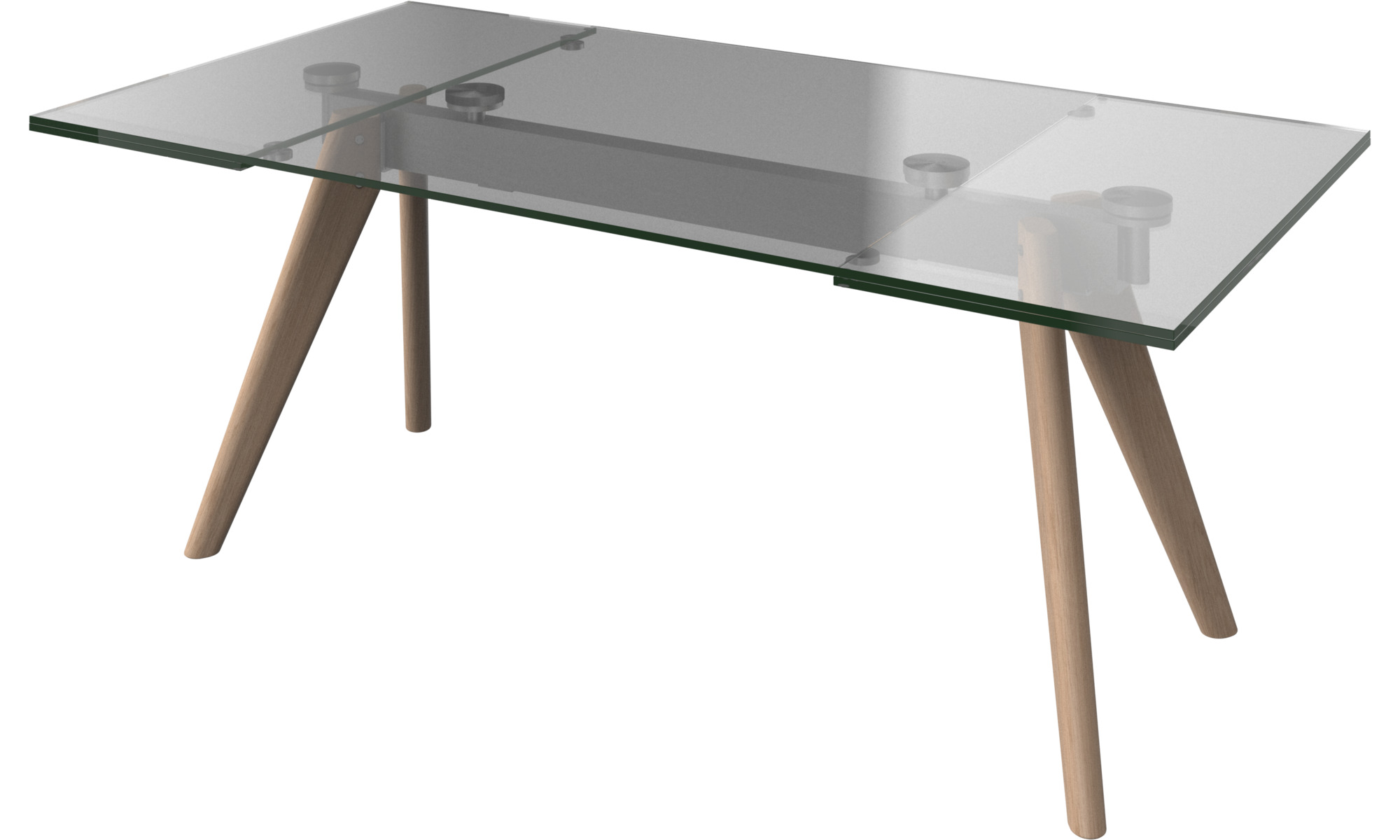 Dining tables monza table with supplementary tabletops - Table a manger transparente ...