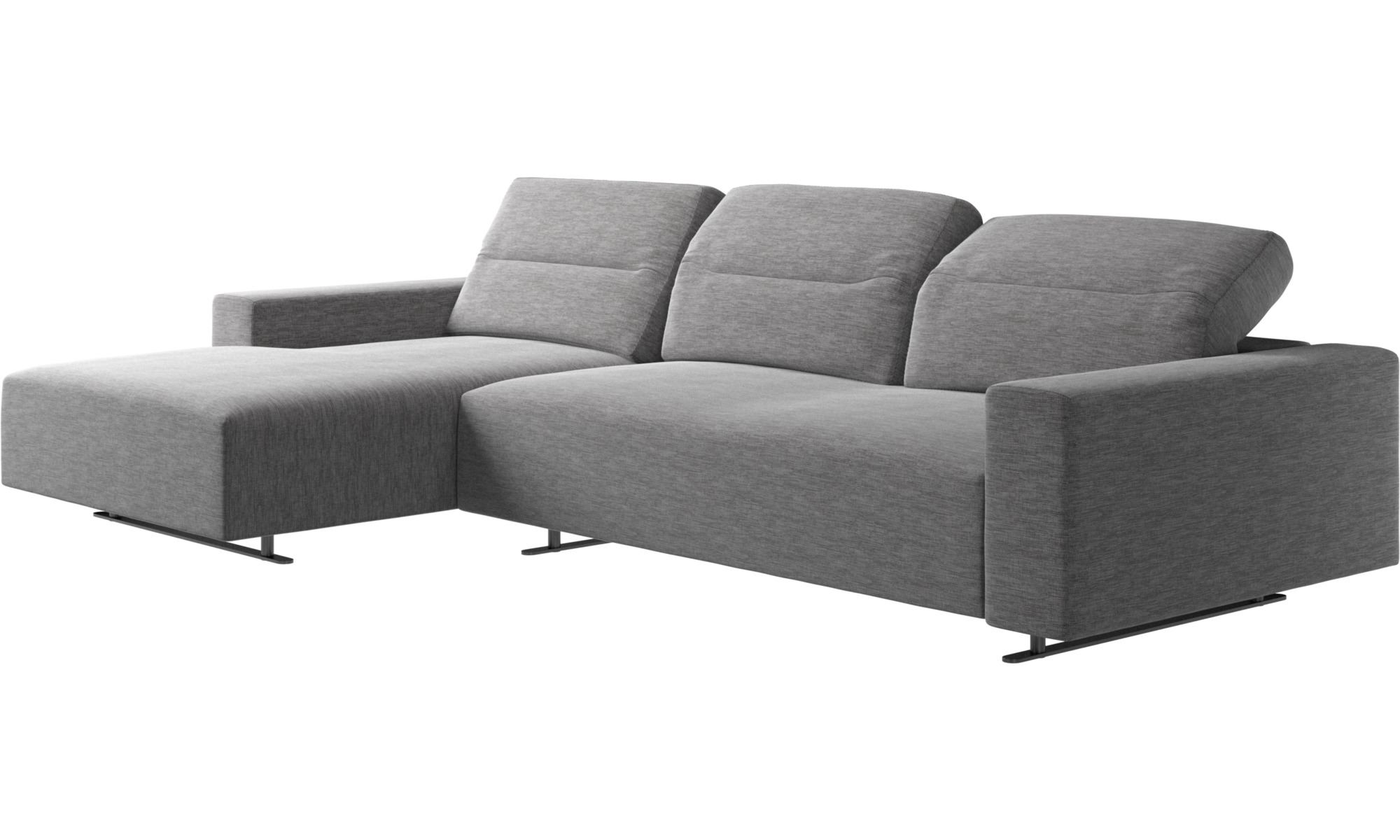 chaise lounge sofas hampton sofa with adjustable back and resting unit left side boconcept. Black Bedroom Furniture Sets. Home Design Ideas