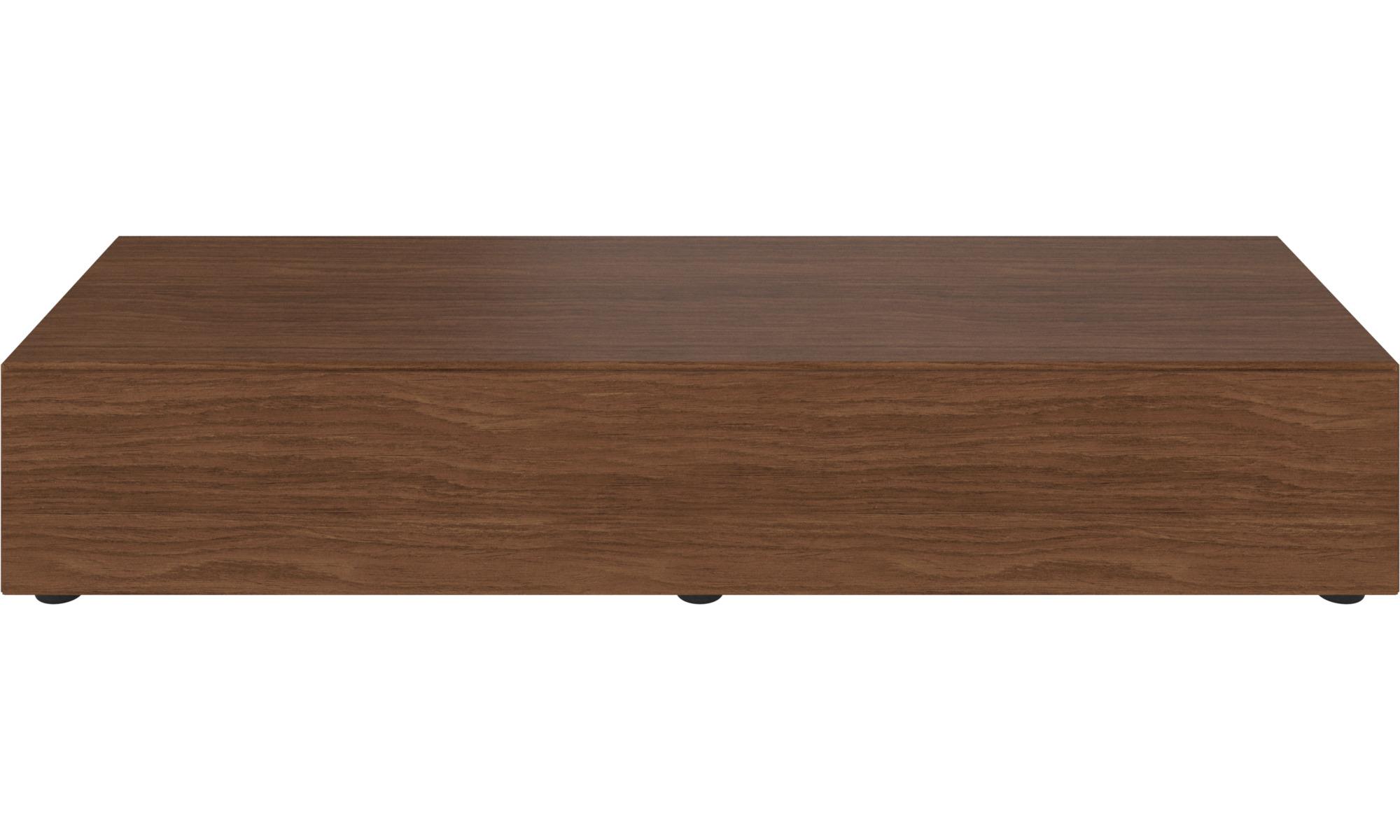 Muebles de TV - Gabinete de base Lugano con puertas abatibles hacia abajo - En marrón - Nogal