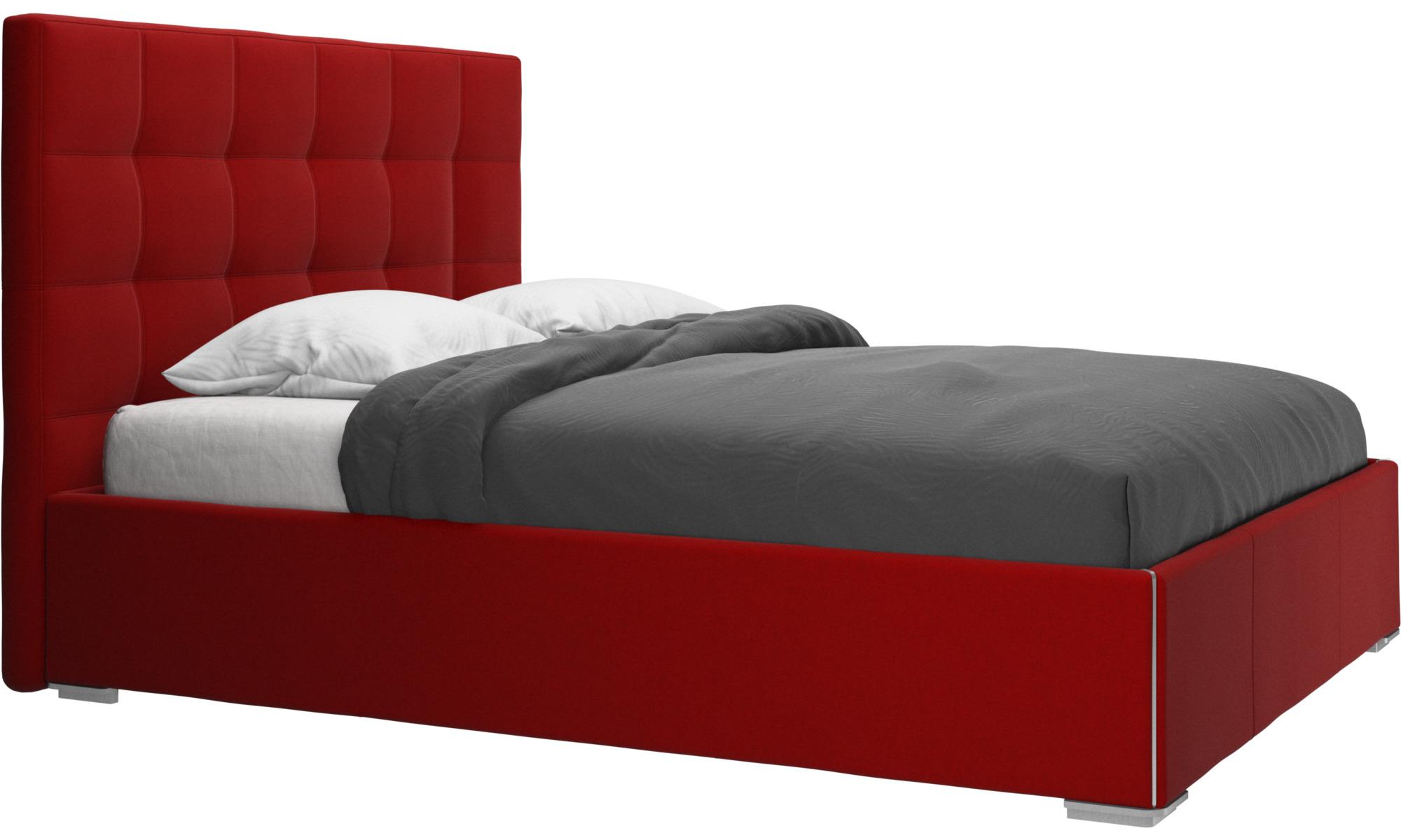 Camas - Cama Mezzo, no incluye colchón - Rojo - Tela