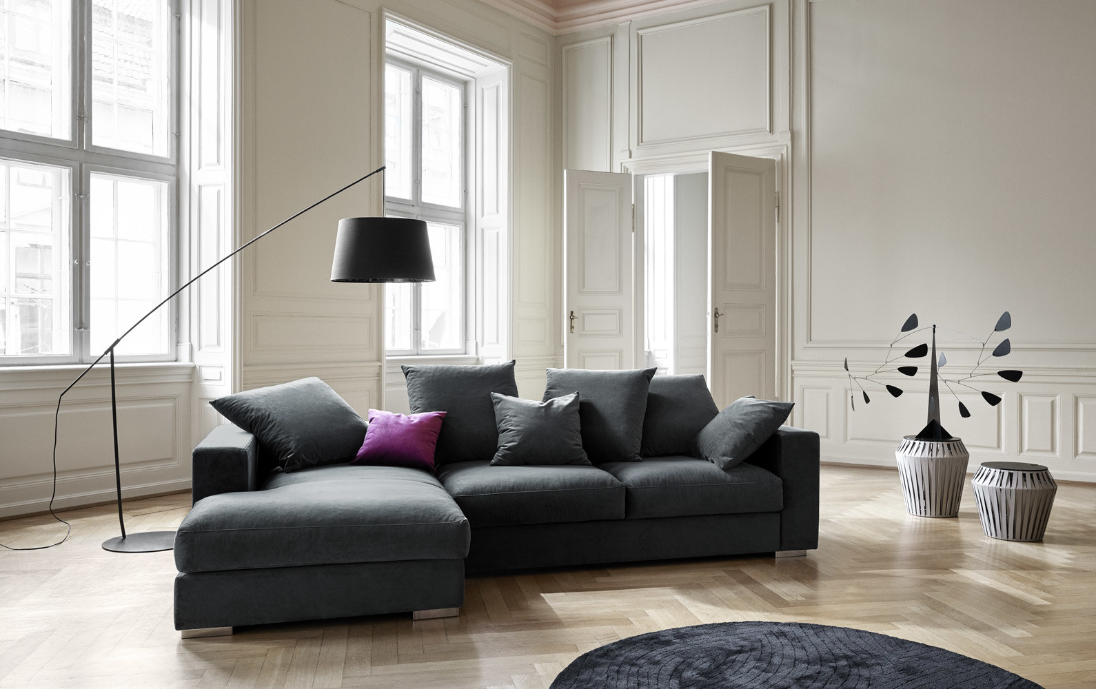Sofas with open end - Cenova sofa with lounging and resting unit