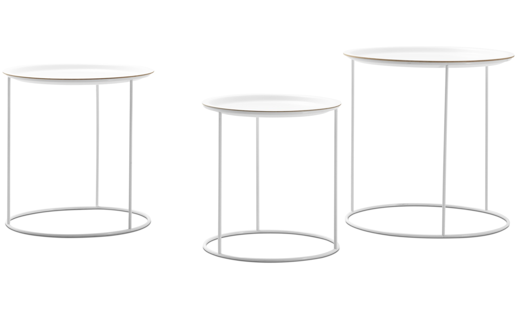 Small furniture - Cartagena nest of tables - round - White - Lacquered
