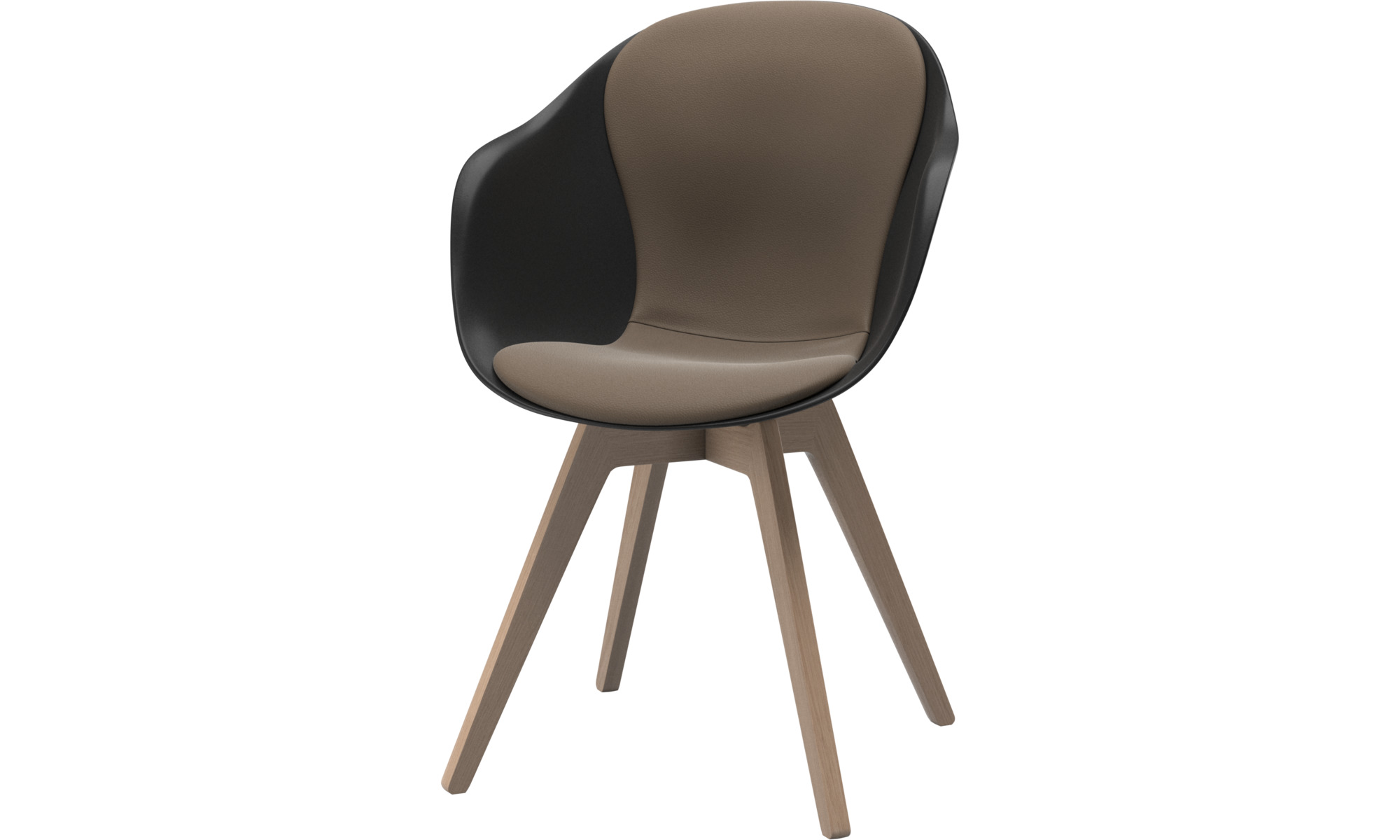 Dining chairs - Adelaide chair - Grey - Leather