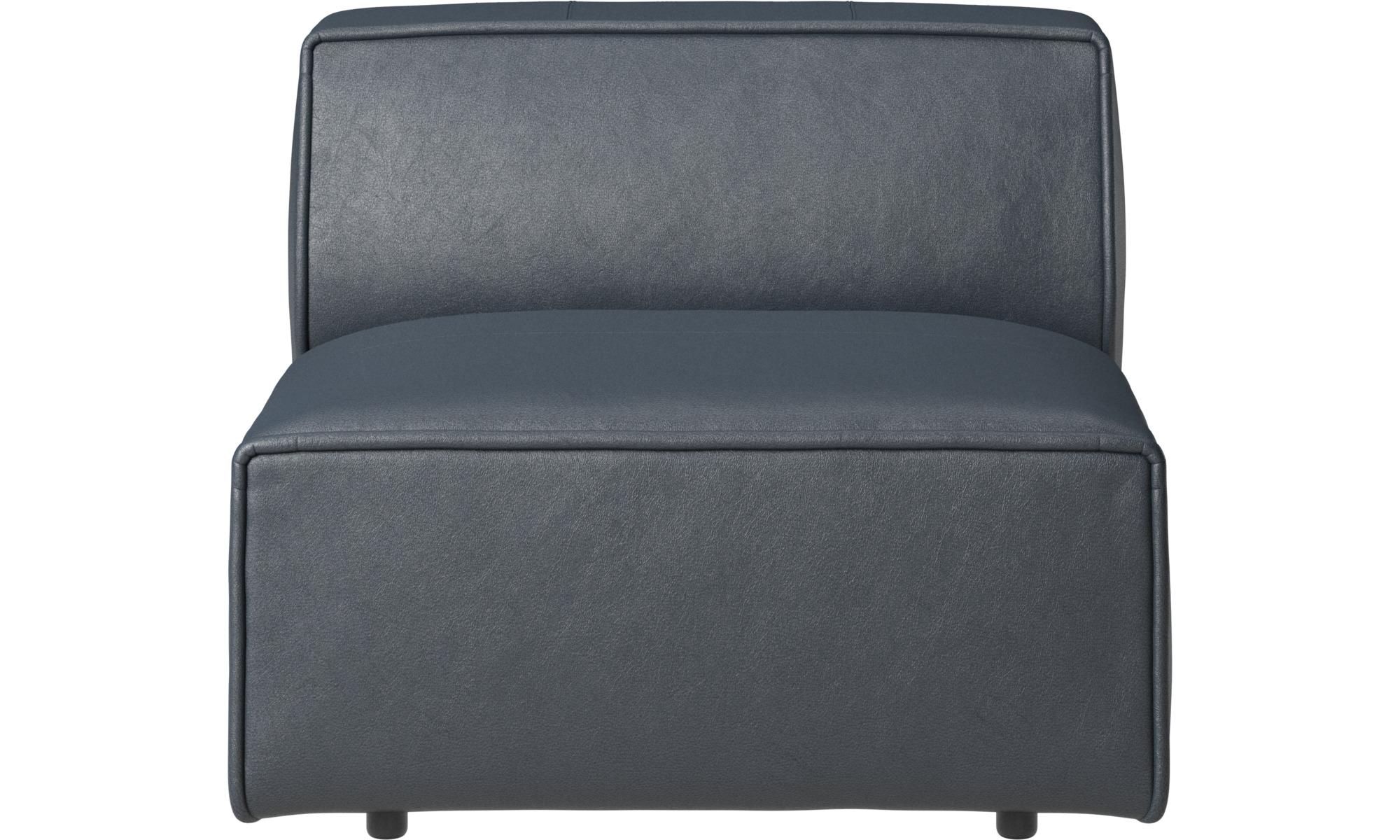 Armchairs - Carmo chair/basic unit - Blue - Fabric