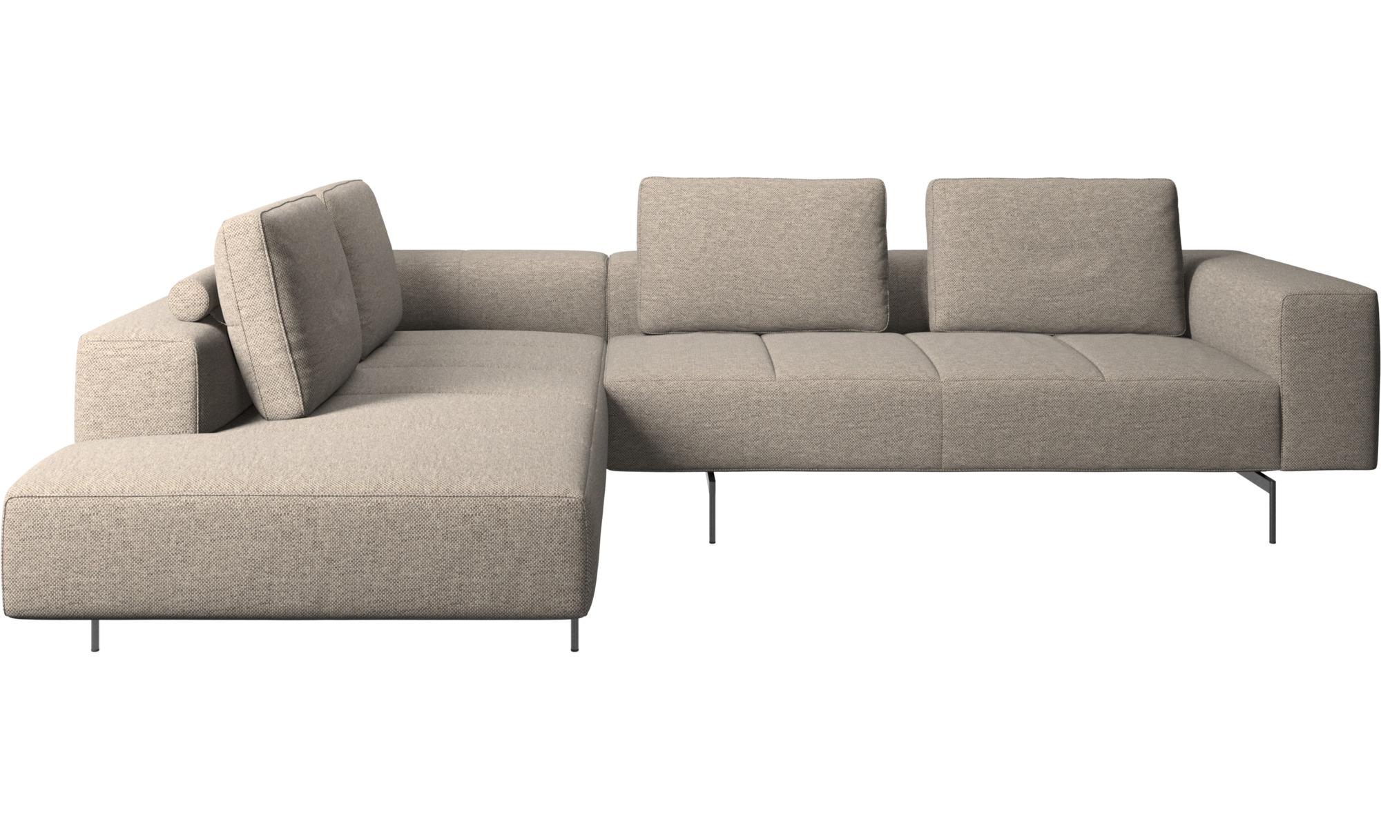 Modulare Sofas - Amsterdam Ecksofa mit Loungemodul - Beige - Stoff