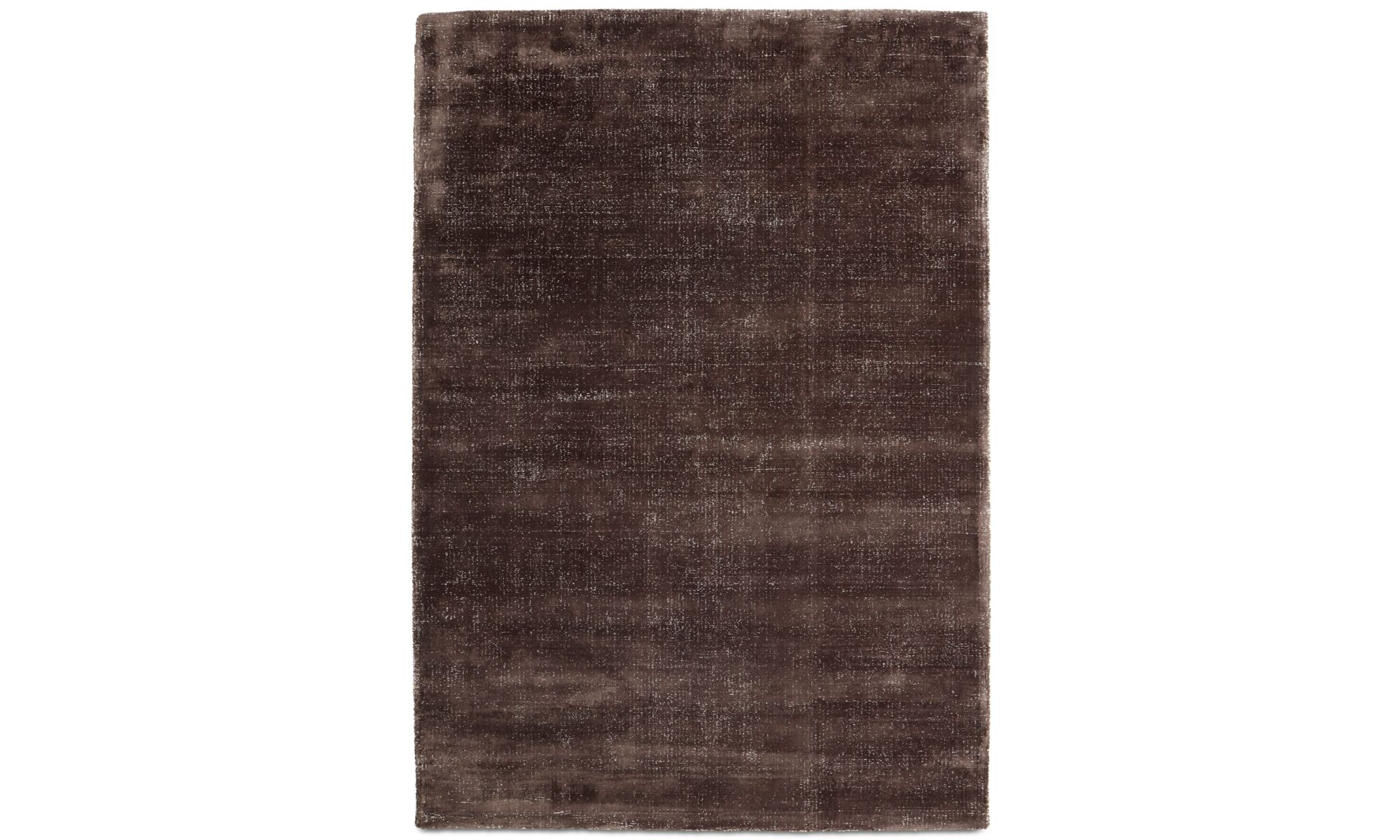 Alfombras - Alfombra Simple - rectangular - En marrón - Lana