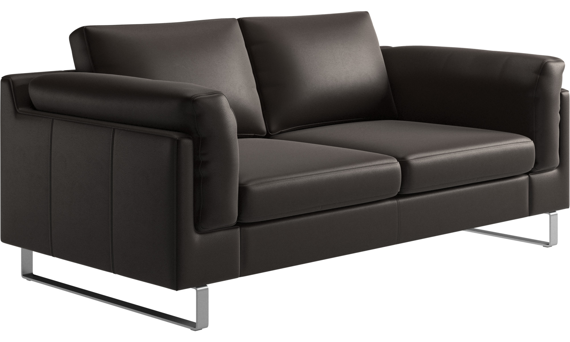 2 Seater Sofas Indivi Sofa Brown Leather