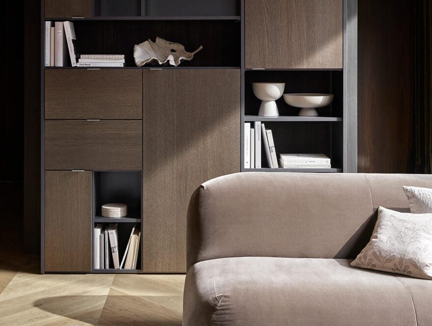 Chelsea sofa in brown velvet