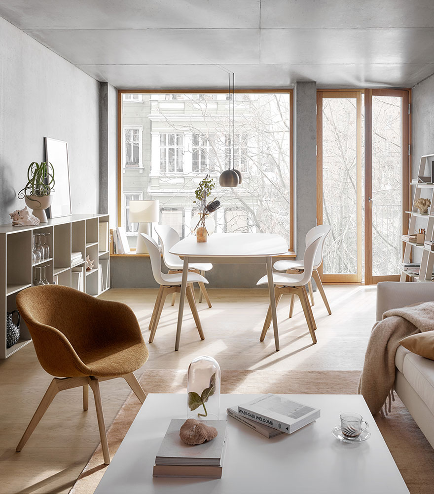 Adelaide chair and white dining table