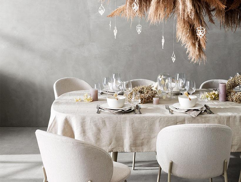 White Princeton chair and Kingston table