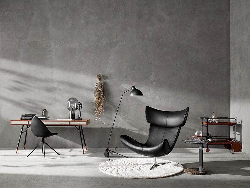 Zwarte Imola fauteuil