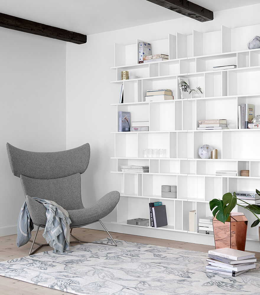 Imola chair next to wall system