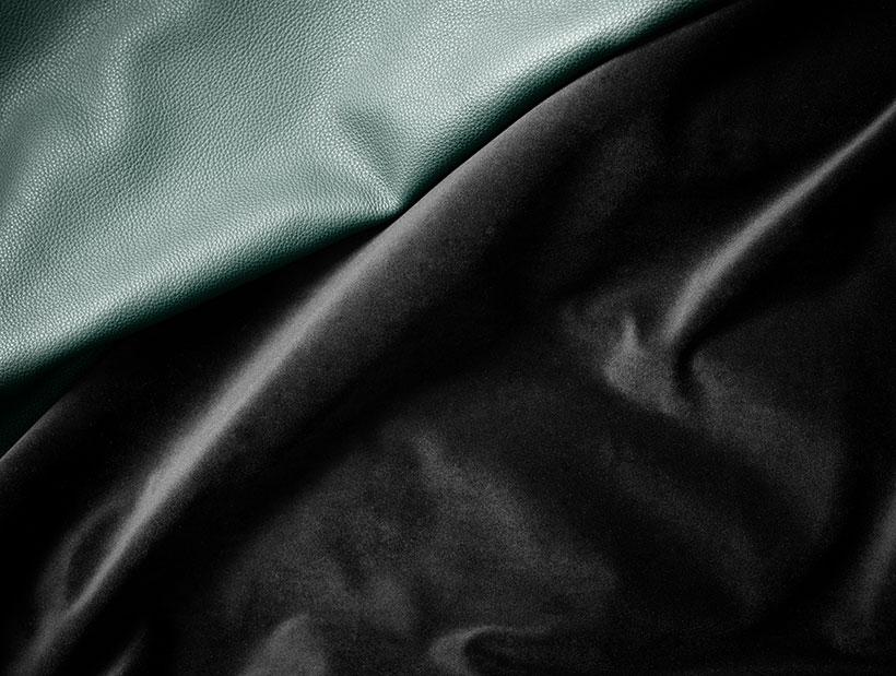 Green leather or black velvet