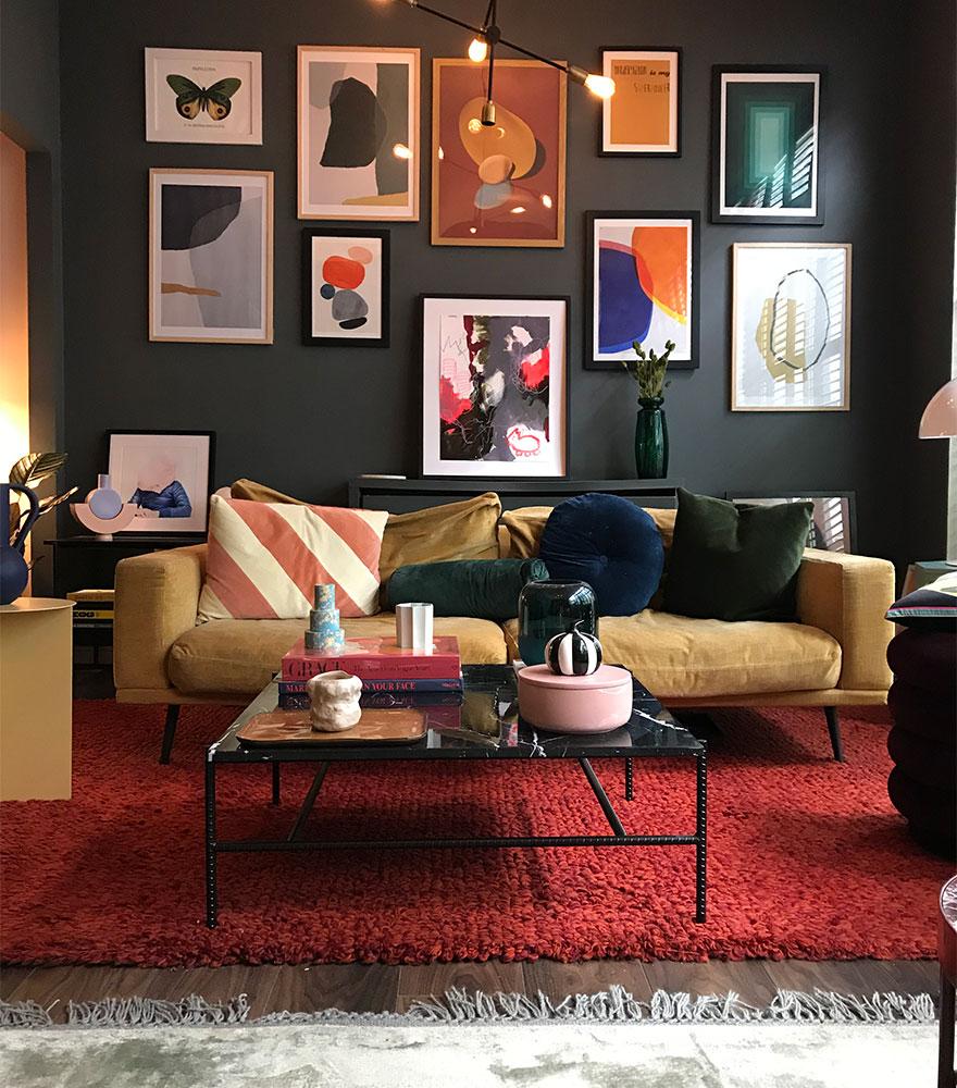 Kamelinruskea Carlton-sohva