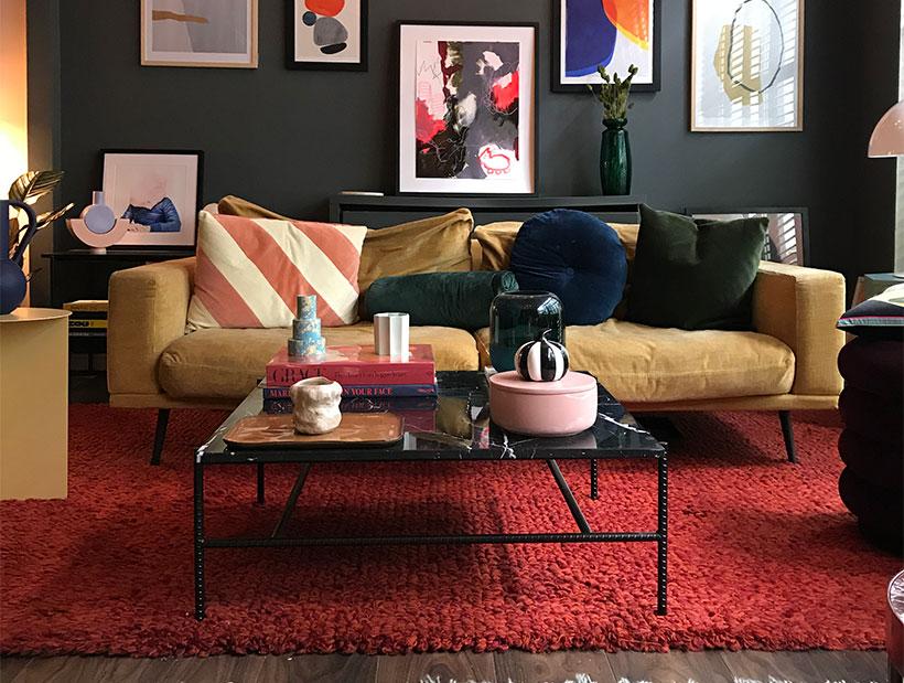 Kamelbraunes Carlton Sofa