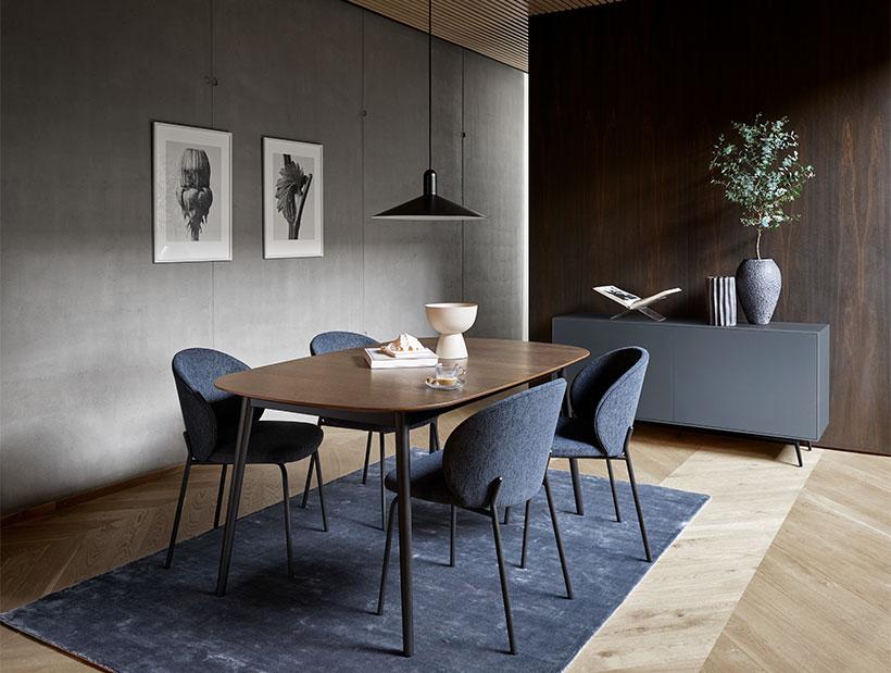 Blue princeton dining chair