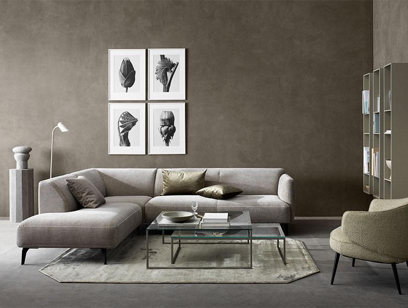 Dusty grey sofa