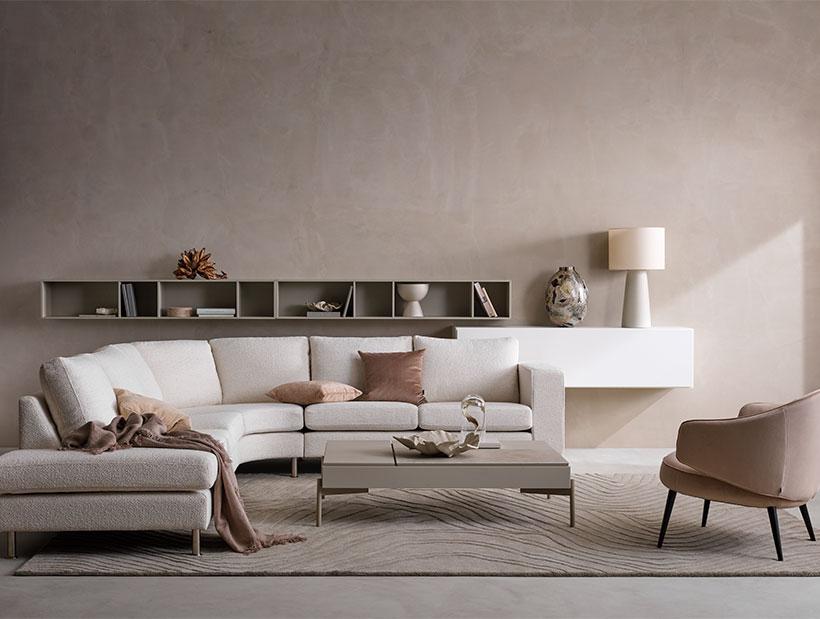 White Indivi corner sofa