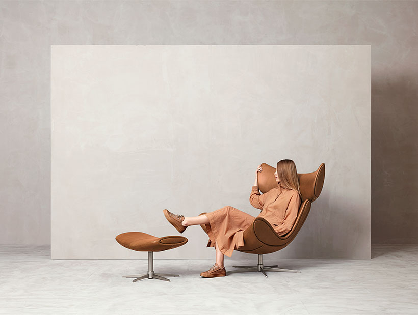 Camel leather Imola chair