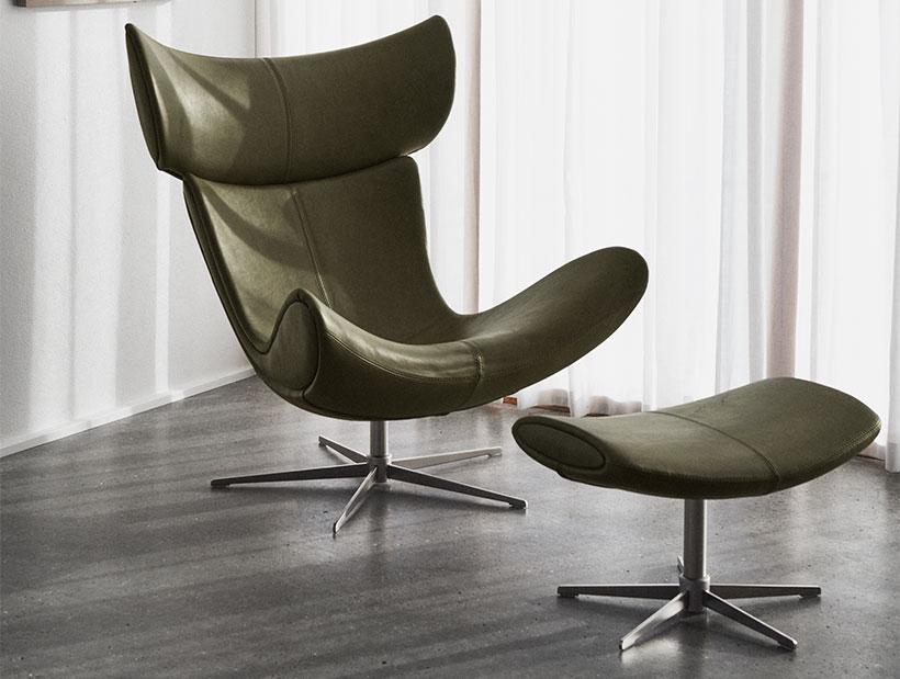 Зеленое кресло Imola