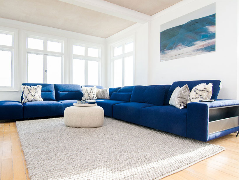 blue hampton sofa
