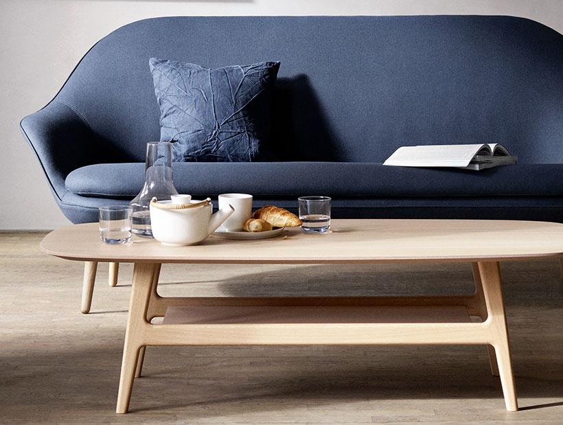 Blue Adelaide sofa in living room