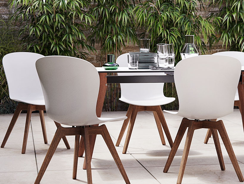 White Adelaide chairs outdoor