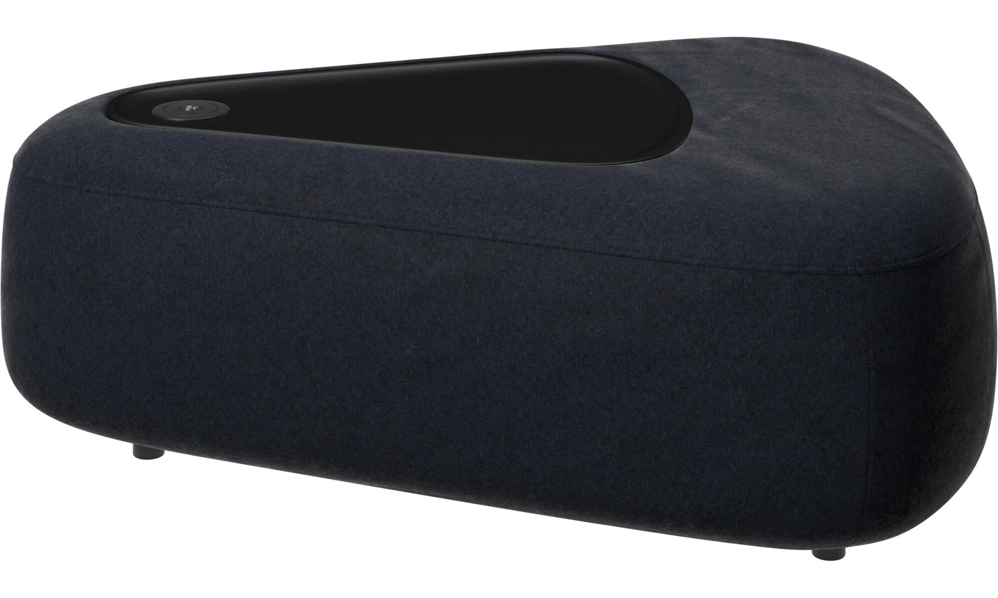 Ottawa triangular pouf with tray with USB charger
