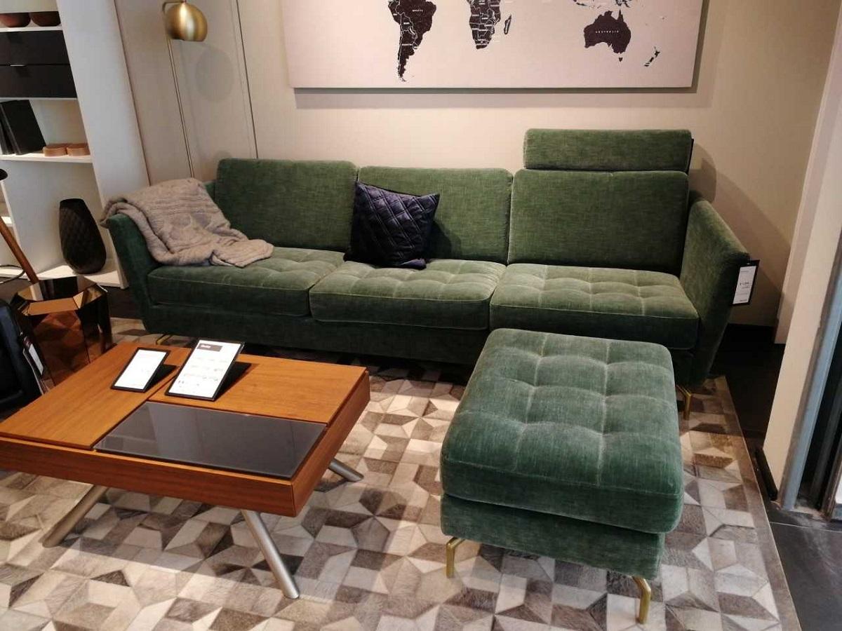 Osaka Sofa mit Hocker und Nackenstütze
