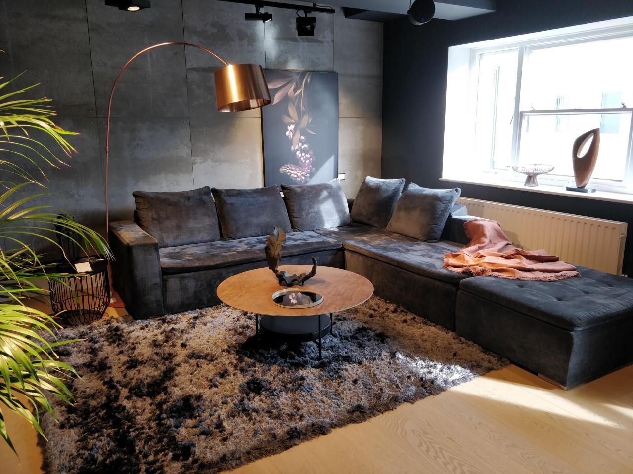 Mezzo corner sofa & footstool - save 50%
