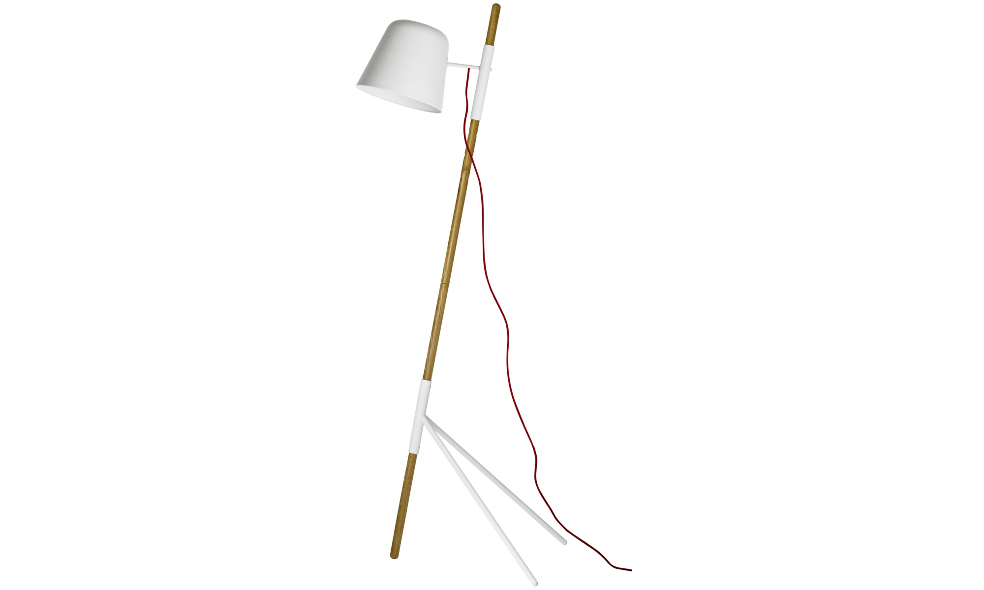 Outrigger floor lamp