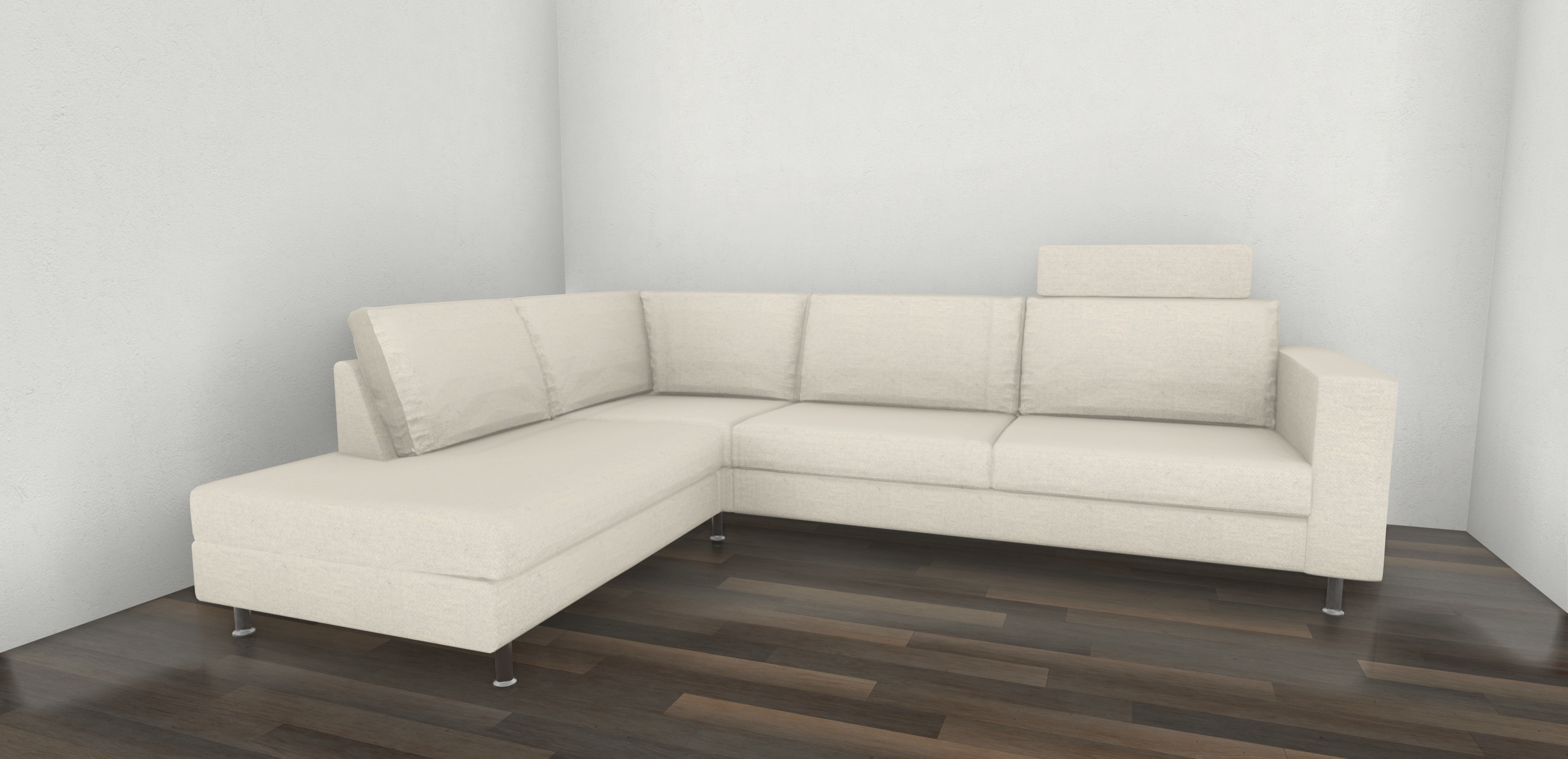 INDIVI CORNER SOFA WITH LOUNGING UNIT AND HEAD REST