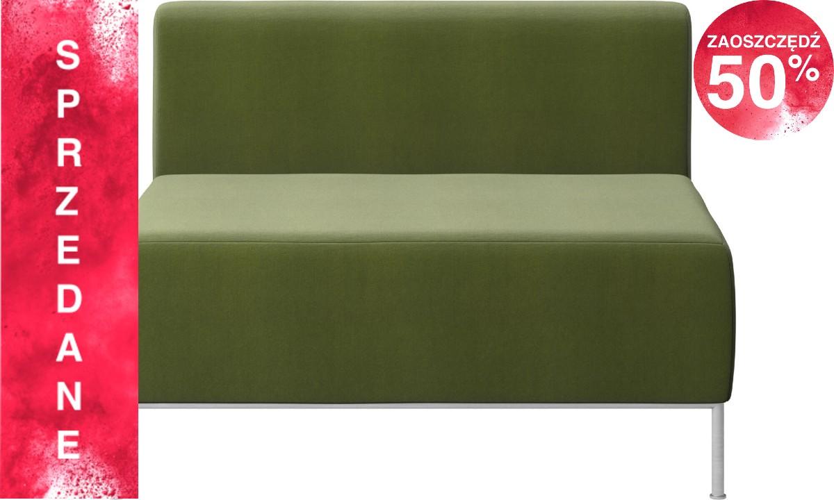 Sofa Miami - jasnozielony Cotton velvet - siedzisko z oparciem