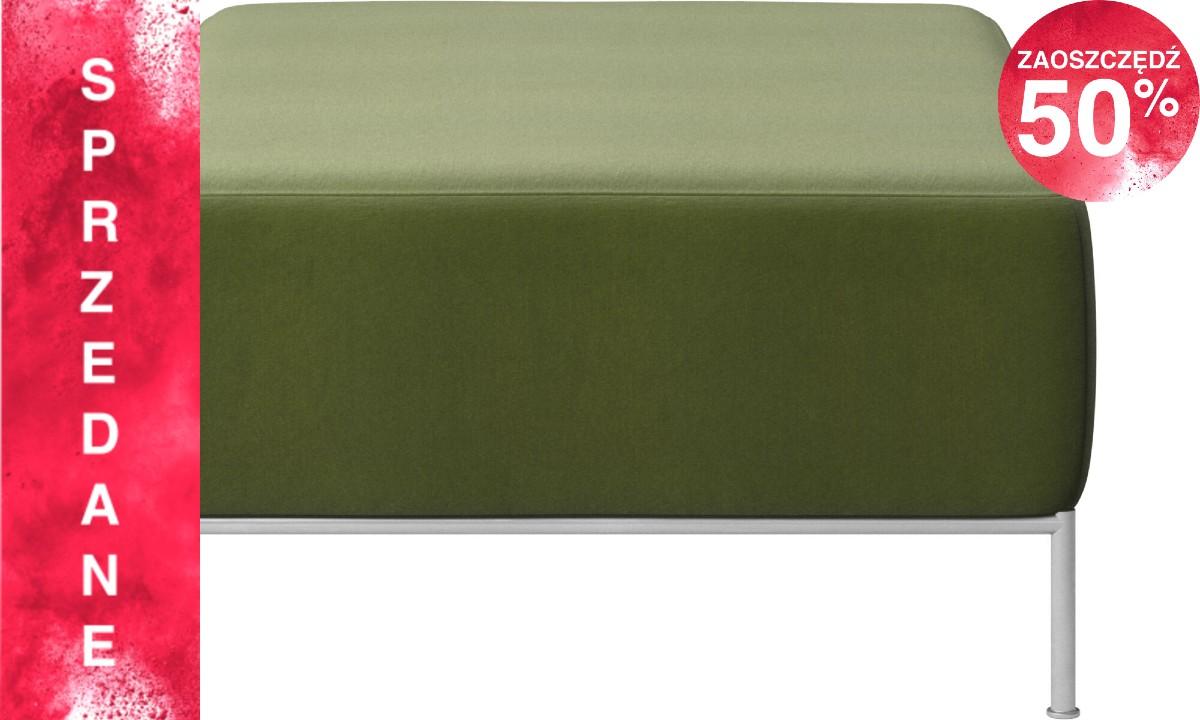 Sofa Miami - jasnozielony Cotton velvet - puf