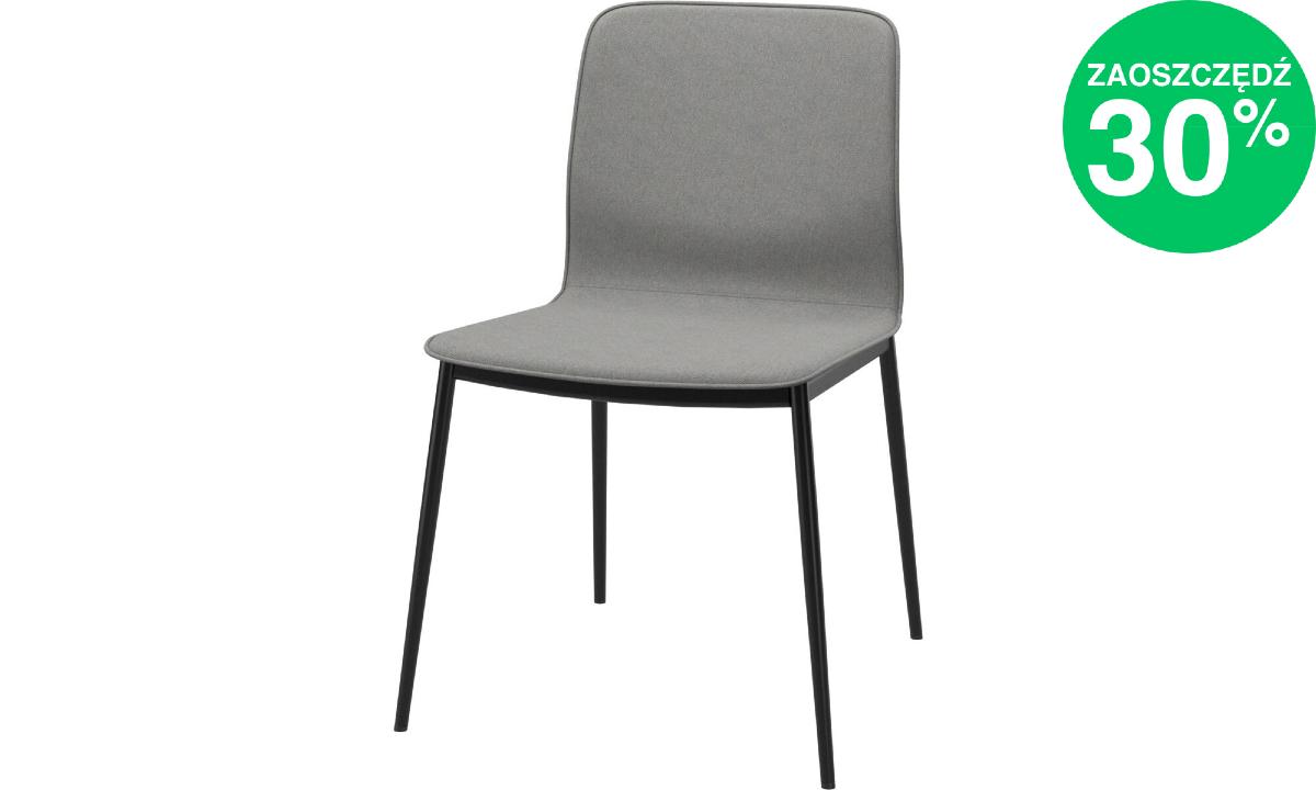 Krzesło Newport w jasnoszarej tkaninie Orlando 3080