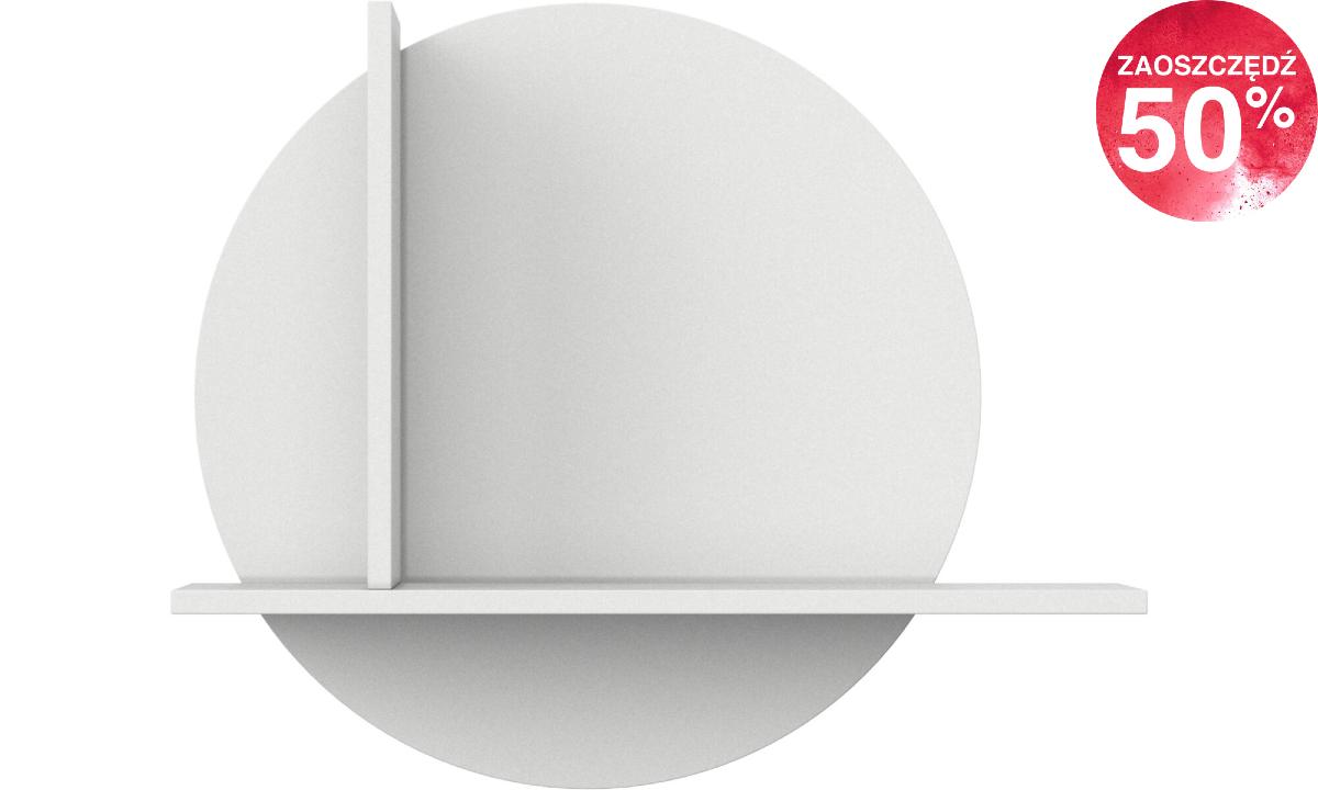 Półka Como - okrągła mała - biały lakier