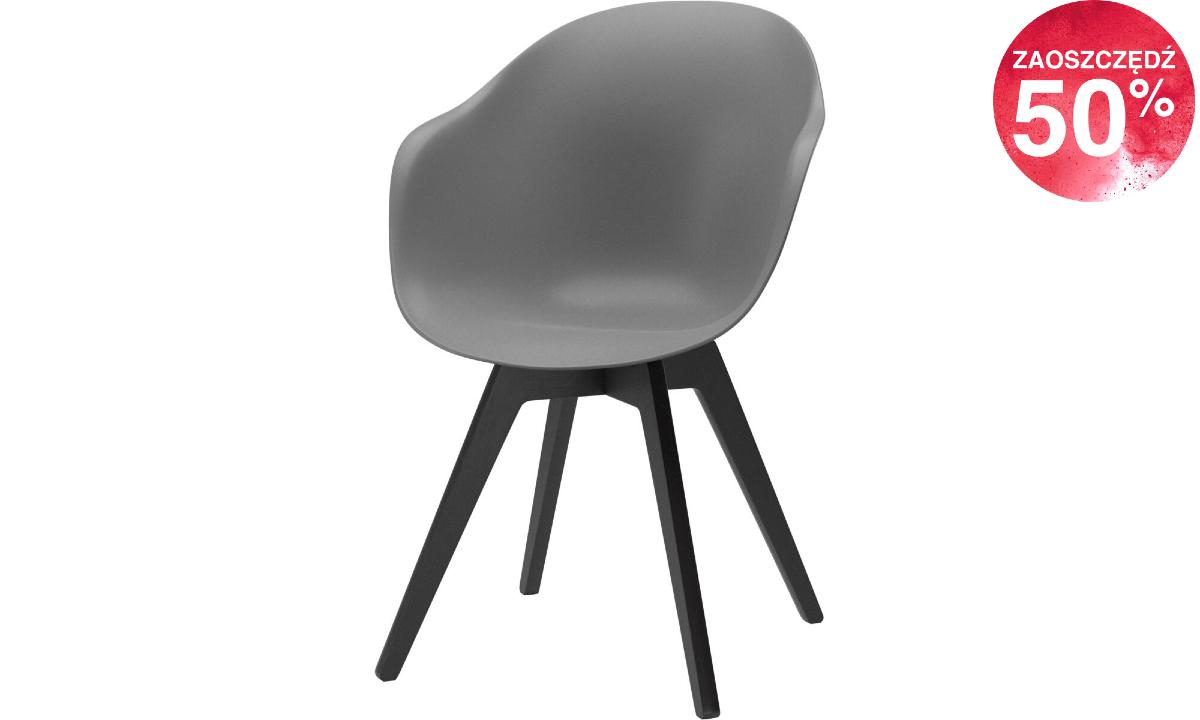 Krzesło Adelaide - szary/espresso