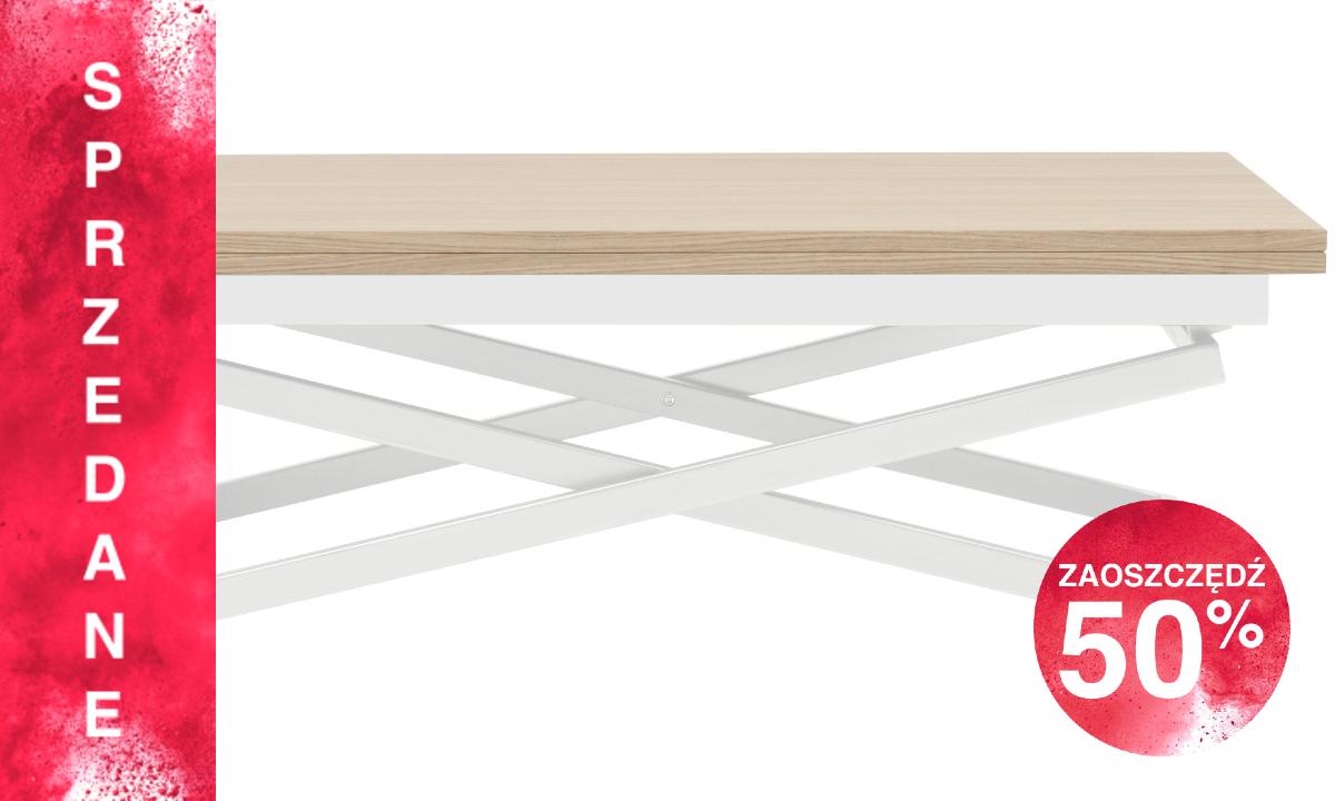 Stół Rubi - dąb/biały